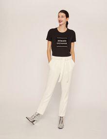 ARMANI EXCHANGE METALLIC BOXED LOGO CREW Logo T-shirt Woman d