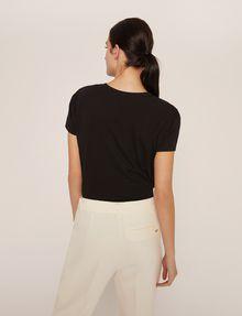 ARMANI EXCHANGE METALLIC BOXED LOGO CREW Logo T-shirt Woman e