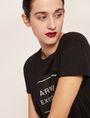 ARMANI EXCHANGE METALLIC BOXED LOGO CREW Logo T-shirt Woman a