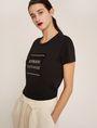 ARMANI EXCHANGE METALLIC BOXED LOGO CREW Logo T-shirt Woman f