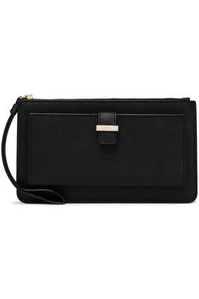 KATE SPADE New York Textured-leather pouch