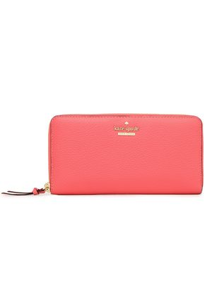 KATE SPADE New York Textured-leather continental wallet