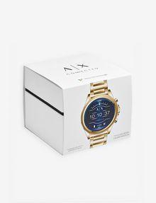 ARMANI EXCHANGE Touchscreen Smartwatch mit goldenem Stahlarmband Uhr E b