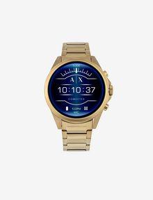 ARMANI EXCHANGE Touchscreen Smartwatch mit goldenem Stahlarmband Uhr E f