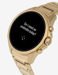 ARMANI EXCHANGE Touchscreen Smartwatch mit goldenem Stahlarmband Uhr E r