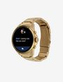 ARMANI EXCHANGE Touchscreen Smartwatch mit goldenem Stahlarmband Uhr E d
