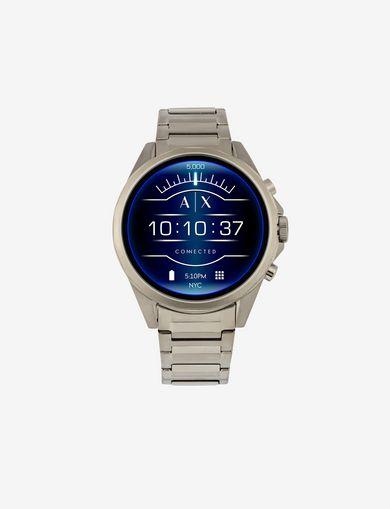 Smartwatch touchscreen con cinturino in acciaio