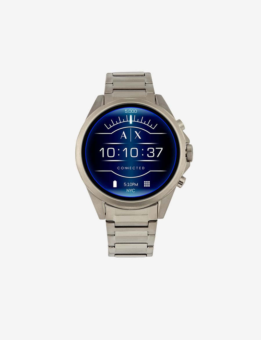 ARMANI EXCHANGE SILVER-TONED STAINLESS STEEL TOUCHSCREEN SMARTWATCH  Smartwatch E f 826eae46bd875