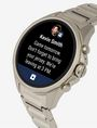 ARMANI EXCHANGE SILVER-TONED STAINLESS STEEL TOUCHSCREEN SMARTWATCH Smartwatch E r