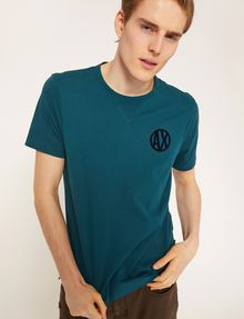 ARMANI EXCHANGE CIRCLE LOGO CREWNECK TEE Logo T-shirt [*** pickupInStoreShippingNotGuaranteed_info ***] a
