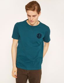 ARMANI EXCHANGE CIRCLE LOGO CREWNECK TEE Logo T-shirt [*** pickupInStoreShippingNotGuaranteed_info ***] f