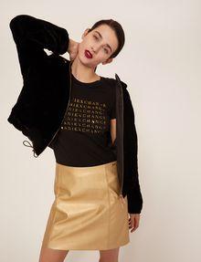 ARMANI EXCHANGE FAUX-LEATHER SEAMED METALLIC SKIRT Mini skirt [*** pickupInStoreShipping_info ***] a