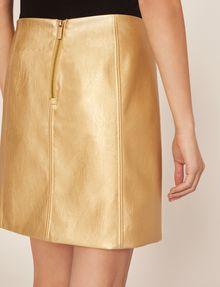 ARMANI EXCHANGE FAUX-LEATHER SEAMED METALLIC SKIRT Mini skirt [*** pickupInStoreShipping_info ***] b