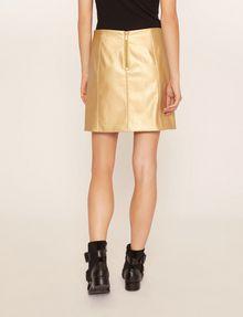 ARMANI EXCHANGE FAUX-LEATHER SEAMED METALLIC SKIRT Mini skirt [*** pickupInStoreShipping_info ***] e