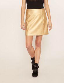 ARMANI EXCHANGE FAUX-LEATHER SEAMED METALLIC SKIRT Mini skirt [*** pickupInStoreShipping_info ***] f