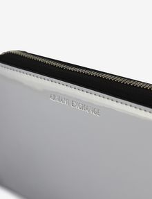 ARMANI EXCHANGE HIGH-SHINE METALLIC WRISTLET Wallet [*** pickupInStoreShipping_info ***] e