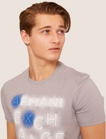 ARMANI EXCHANGE SLIM-FIT NEON SIGN CREW Logo T-shirt Man a