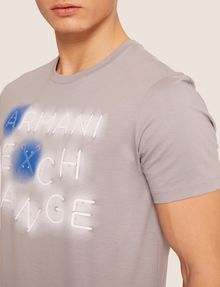 ARMANI EXCHANGE SLIM-FIT NEON SIGN CREW Logo T-shirt Man b