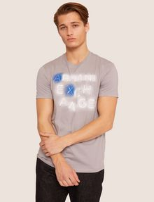 ARMANI EXCHANGE SLIM-FIT NEON SIGN CREW Logo T-shirt Man f
