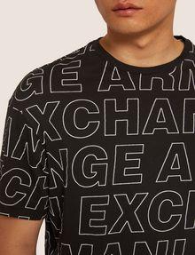 ARMANI EXCHANGE LOOSE-FIT ALLOVER LOGO PRINT CREW Logo T-shirt Man b