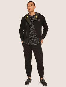 ARMANI EXCHANGE LOOSE-FIT ALLOVER LOGO PRINT CREW Logo T-shirt Man d