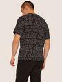 ARMANI EXCHANGE LOOSE-FIT ALLOVER LOGO PRINT CREW Logo T-shirt Man e