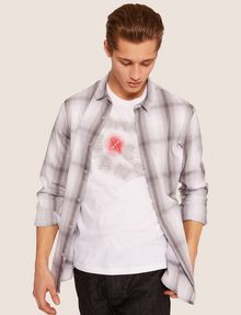 ARMANI EXCHANGE SLIM-FIT NEON SIGN CREW Logo T-shirt Man a