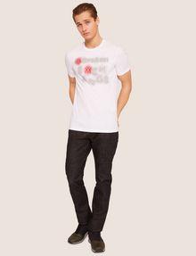 ARMANI EXCHANGE SLIM-FIT NEON SIGN CREW Logo T-shirt Man d