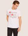 ARMANI EXCHANGE SLIM-FIT NEON SIGN CREW Logo T-shirt Man f