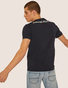 ARMANI EXCHANGE REGULAR-FIT DIGITAL EAGLE CREW Graphic T-shirt [*** pickupInStoreShippingNotGuaranteed_info ***] e