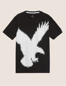 ARMANI EXCHANGE REGULAR-FIT DIGITAL EAGLE CREW Graphic T-shirt Man r