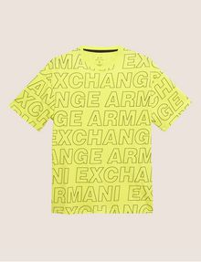 ARMANI EXCHANGE LOOSE-FIT ALLOVER LOGO PRINT CREW Logo T-shirt Man r