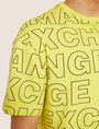 ARMANI EXCHANGE LOOSE-FIT ALLOVER LOGO PRINT CREW Logo T-shirt Man b