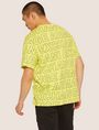 ARMANI EXCHANGE LOOSE-FIT ALLOVER LOGO PRINT CREW Logo T-shirt Man e