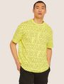ARMANI EXCHANGE LOOSE-FIT ALLOVER LOGO PRINT CREW Logo T-shirt Man f