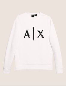 ARMANI EXCHANGE HIGH-SHINE EMBOSSED LOGO SWEATSHIRT Sweatshirt [*** pickupInStoreShippingNotGuaranteed_info ***] r