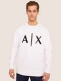 ARMANI EXCHANGE HIGH-SHINE EMBOSSED LOGO SWEATSHIRT Sweatshirt [*** pickupInStoreShippingNotGuaranteed_info ***] f