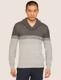ARMANI EXCHANGE MIXED STITCH SHAWL COLLAR STRIPE SWEATER Pullover Man f
