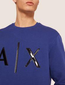 ARMANI EXCHANGE HIGH-SHINE EMBOSSED LOGO SWEATSHIRT Sweatshirt [*** pickupInStoreShippingNotGuaranteed_info ***] b