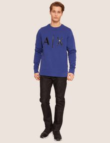 ARMANI EXCHANGE HIGH-SHINE EMBOSSED LOGO SWEATSHIRT Sweatshirt [*** pickupInStoreShippingNotGuaranteed_info ***] d