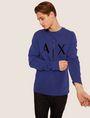 ARMANI EXCHANGE HIGH-SHINE EMBOSSED LOGO SWEATSHIRT Sweatshirt [*** pickupInStoreShippingNotGuaranteed_info ***] a