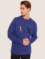 ARMANI EXCHANGE HIGH-SHINE EMBOSSED LOGO SWEATSHIRT Sweatshirt [*** pickupInStoreShippingNotGuaranteed_info ***] f