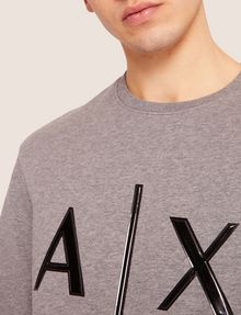 ARMANI EXCHANGE HIGH-SHINE EMBOSSED LOGO SWEATSHIRT Sweatshirt [*** pickupInStoreShippingNotGuaranteed_info ***] b