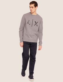 ARMANI EXCHANGE HIGH-SHINE EMBOSSED LOGO SWEATSHIRT Sweatshirt [*** pickupInStoreShippingNotGuaranteed_info ***] d