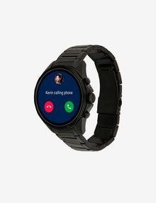 ARMANI EXCHANGE Touchscreen Smartwatch mit schwarzem Stahlarmband Uhr E d