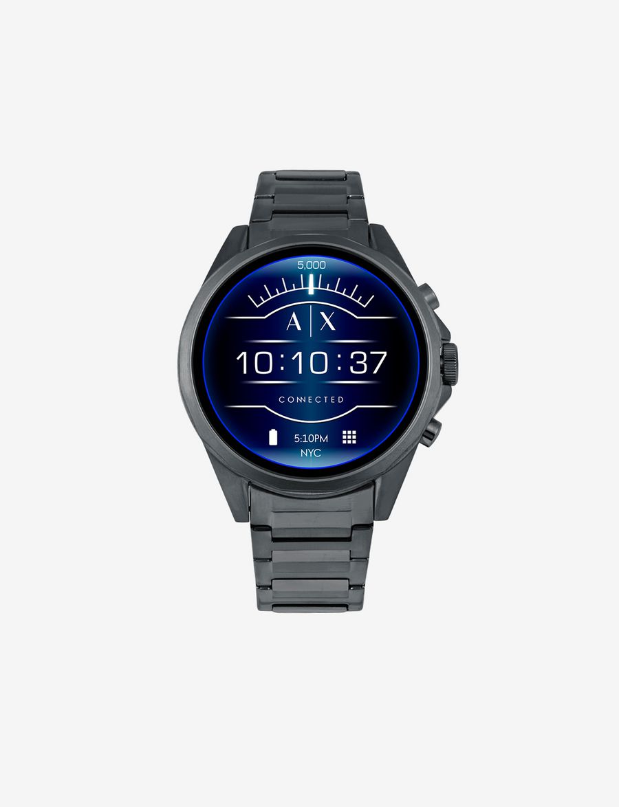 2645bec97f3 ARMANI EXCHANGE BLUE STAINLESS STEEL TOUCHSCREEN SMARTWATCH Smartwatch E f