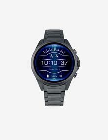 ARMANI EXCHANGE BLUE STAINLESS STEEL TOUCHSCREEN SMARTWATCH Smartwatch E f