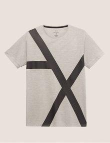 ARMANI EXCHANGE LOOSE-FIT OVERSIZED LINE LOGO CREW Graphic T-shirt [*** pickupInStoreShippingNotGuaranteed_info ***] r