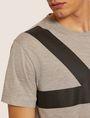 ARMANI EXCHANGE LOOSE-FIT OVERSIZED LINE LOGO CREW Graphic T-shirt [*** pickupInStoreShippingNotGuaranteed_info ***] b