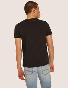 ARMANI EXCHANGE SLIM-FIT STUDDED VARSITY LOGO CREW Logo T-shirt Man e